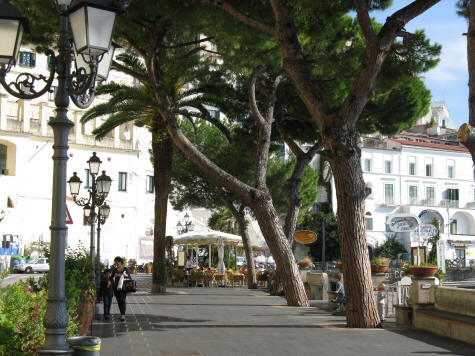 Seaside Promenade in Amalfi Italy